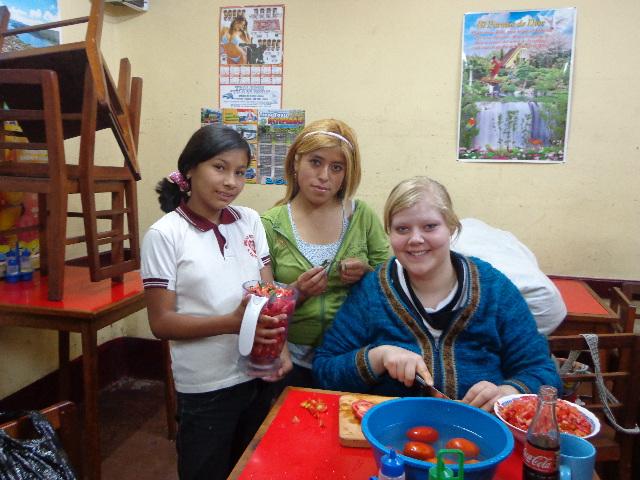 Mit Ana und Teresa in der Pension in La Paz