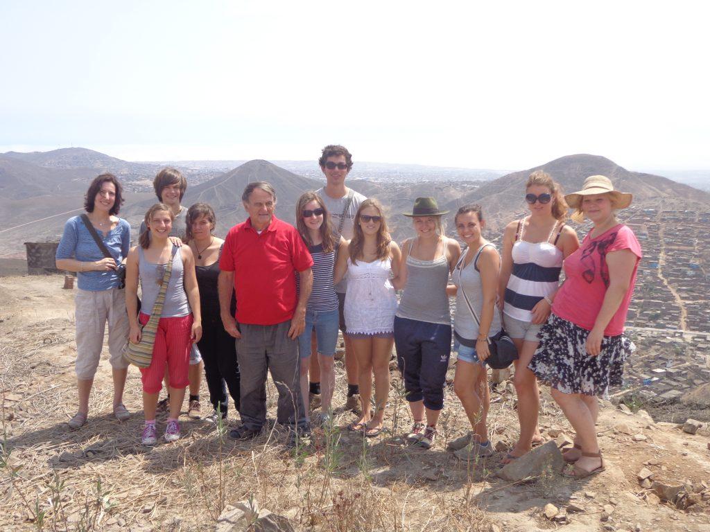 Zwischenseminar - Mit den anderen Freiwilligen, Alexandra und Alois bei einer alternativen Stadtführung in Lima, Peru