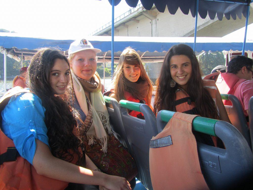Bootfahrt in Valdivia mit Francisca, Alex und Valentina.