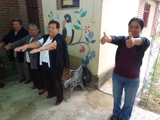 Die Seniorengruppe bei ihrem Abschlussfest - Dezember 2012