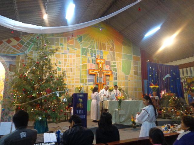 "Heilig Abend in der Kirche ""Cruz Gloriosa""."