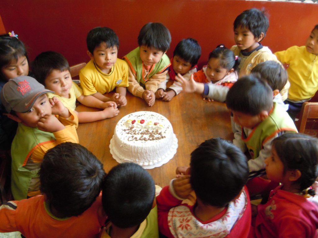 Geburtstag in der Kinderkrippe - natürlich mit Torte! - September 2012