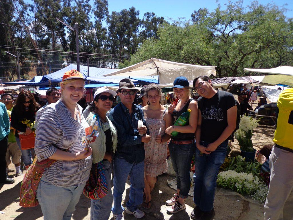 Von rechts nach links: Rollo, Sarina, Sabrina, Willmer, Bea und ich