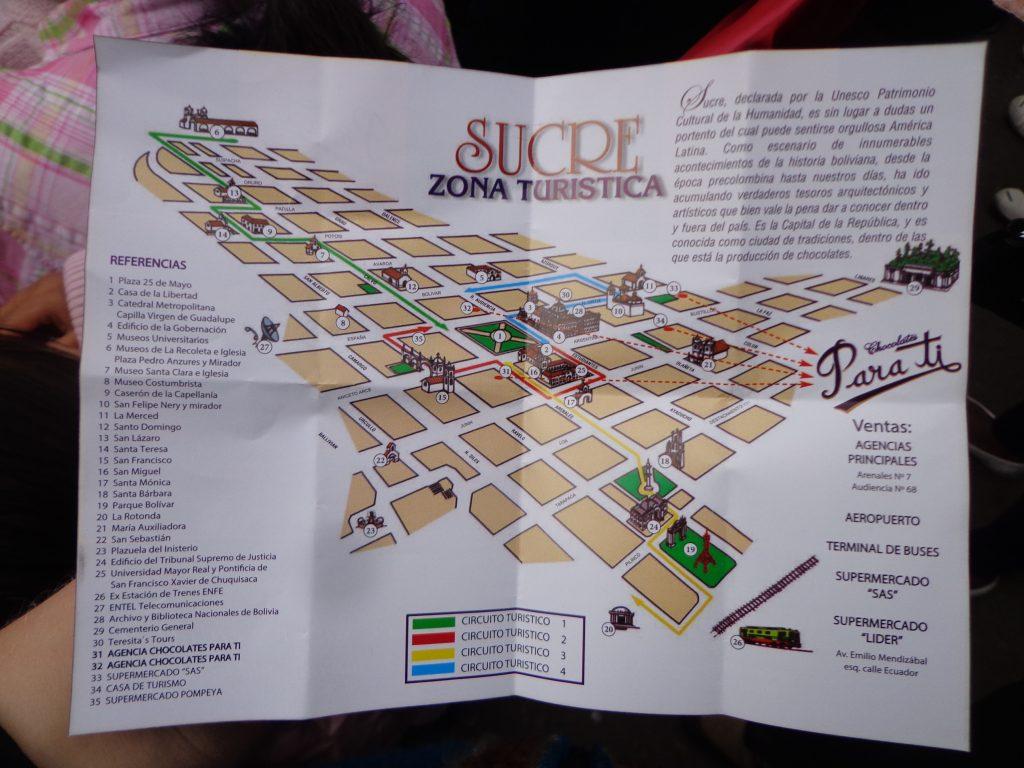 Stadtplan von Sucre
