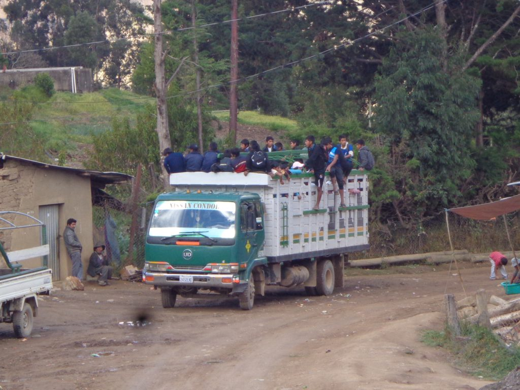 Bolivianischer Massentransport.