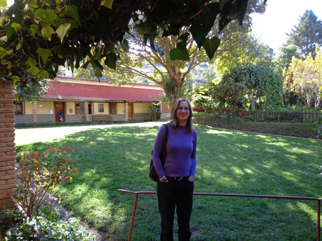 Martine im Centro Social.