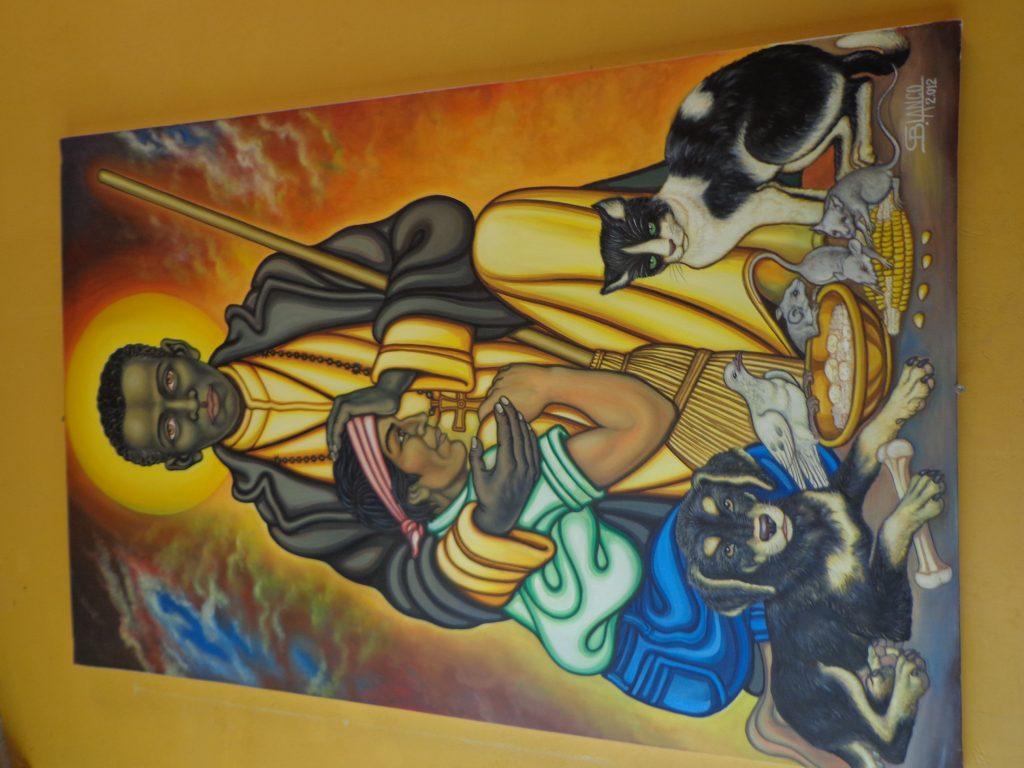 Von dem Künstler dieses Bildes hängen viele Werke in unserer Kirche Cruz Gloriosa und in CADECA.