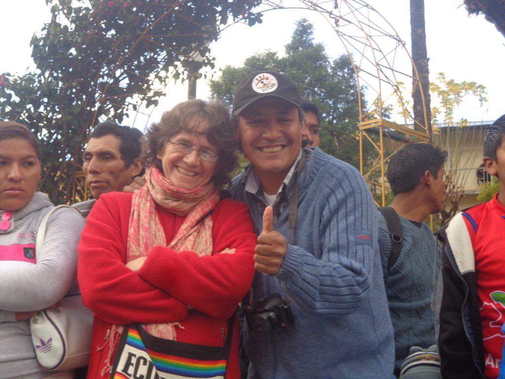 Andrea aus Deutschland und Ricardo aus Independencia.