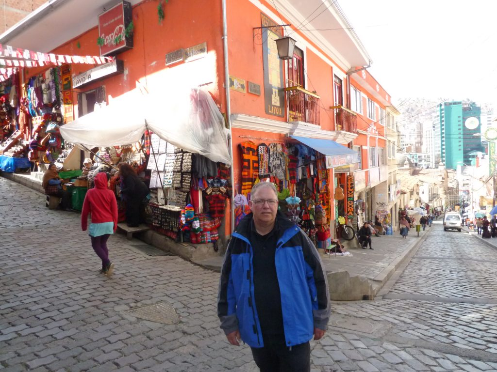 Papa auf dem Hexenmarkt.