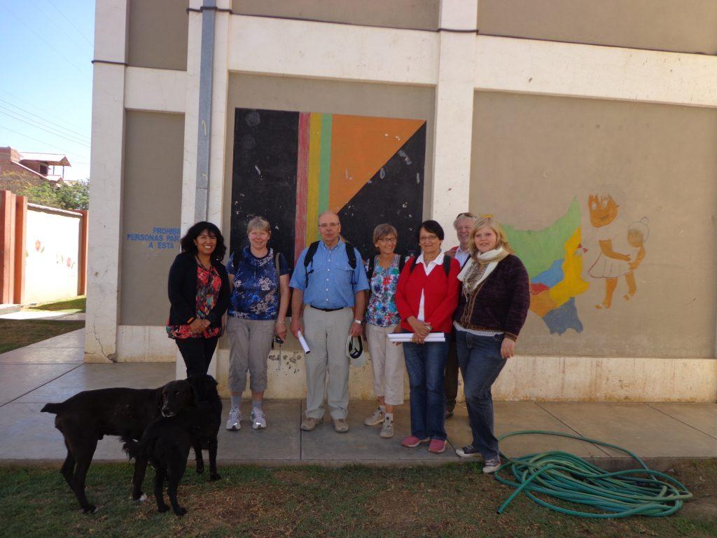 Zu Besuch im Kolping-Haus (in dem ich wohne). Links: Beatriz Iglesias, die Direktorin von Kolping Cochabamba.