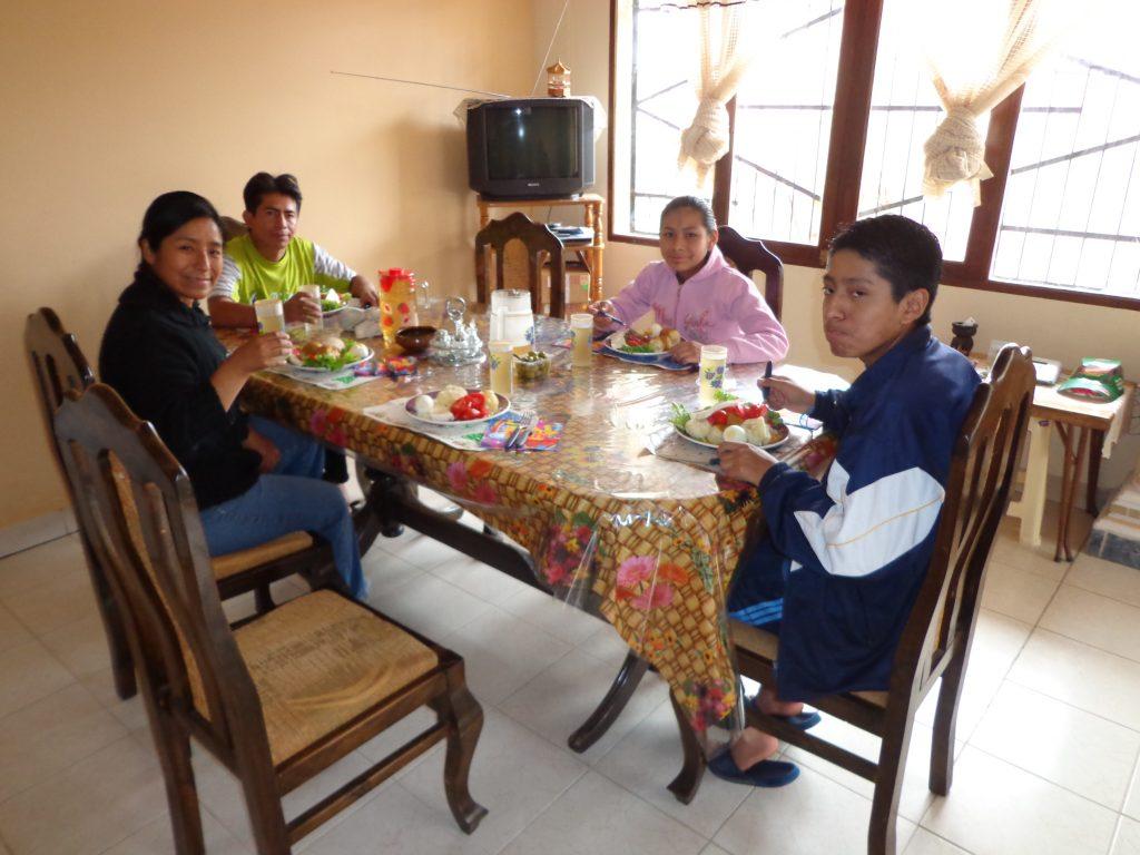 Das letzte Mittagessen in Cochabamba bei Elis Familie