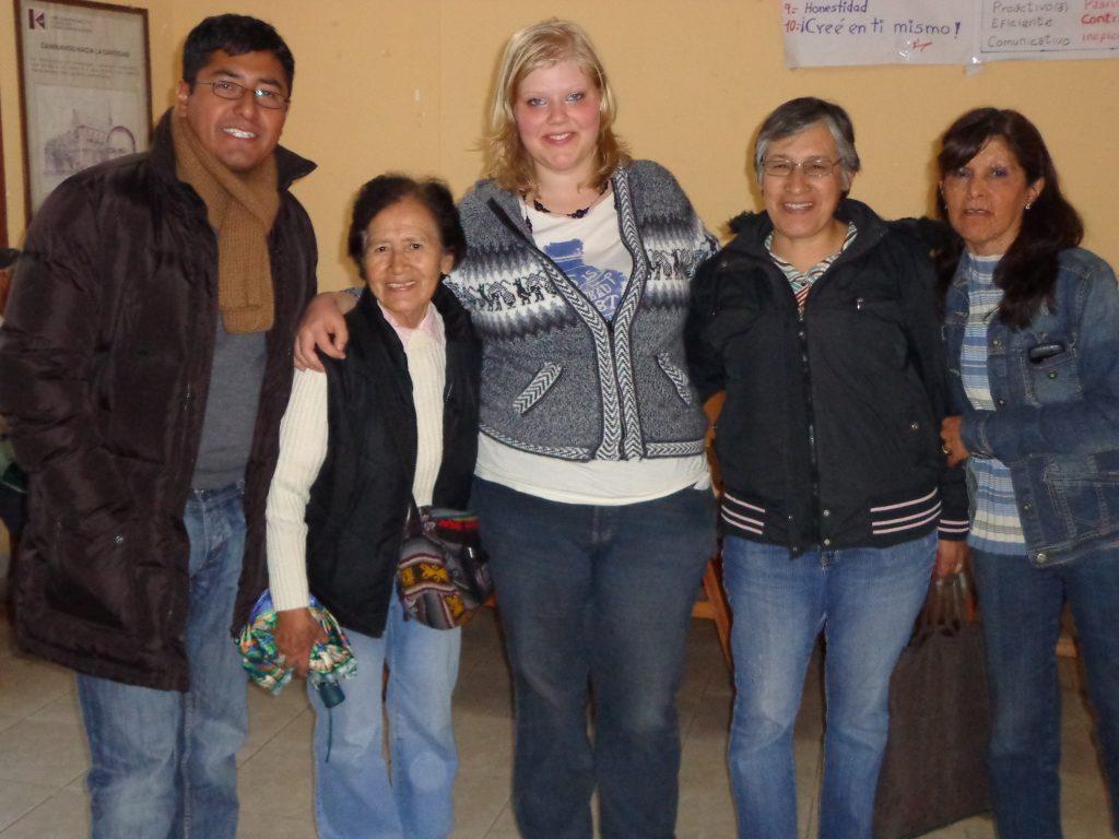 P. Gonzalo, Hermana Justina, ich, Hermana Maria Luisa und Pilar
