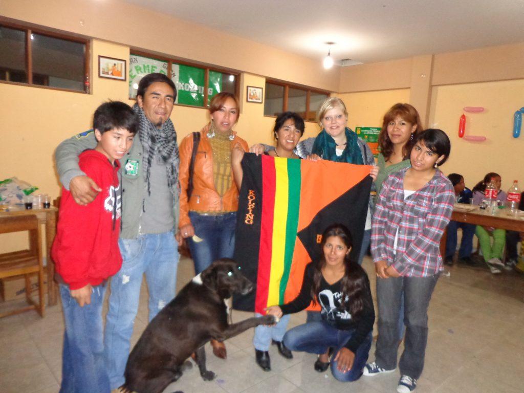 Kolping <3 Diego Inti, Pacho, Marcella, Bea, Anel, Wara und unten Kaiser un Esperanza