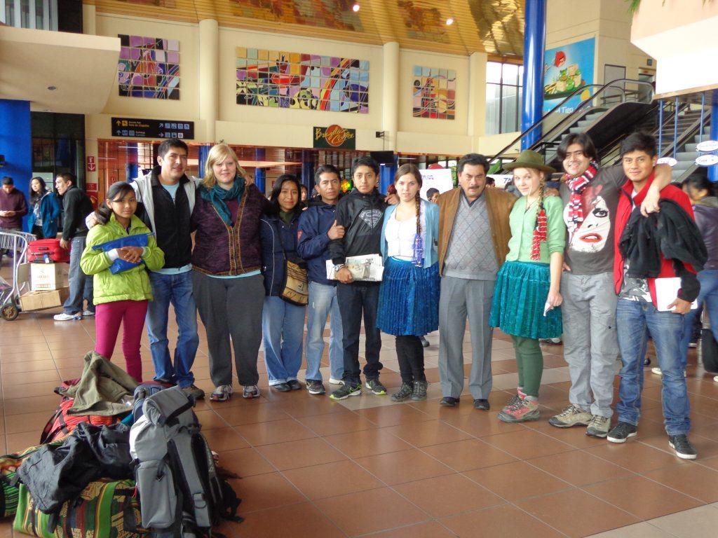 Abschiedskomitee am Flughafen